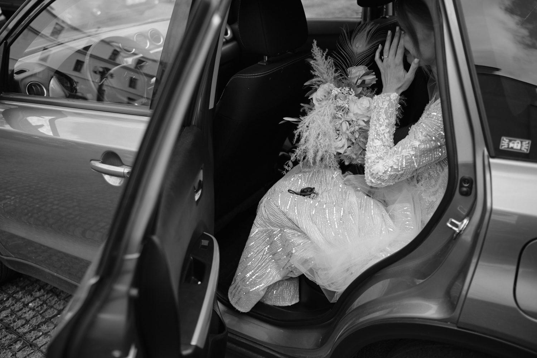 Jautri nuotakos Indrės nuotrauka prieš vestuvių ceremoniją