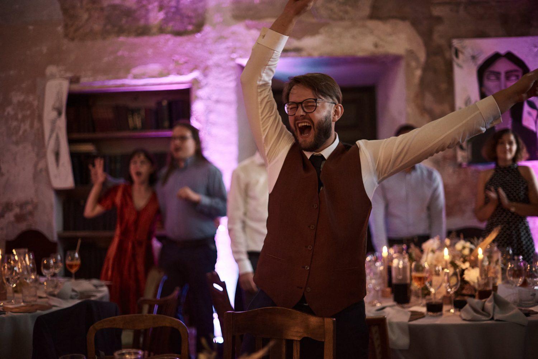 Svečiai grožisi jaunųjų šokiu, Babtyno-Žemaitkiemio dvaras