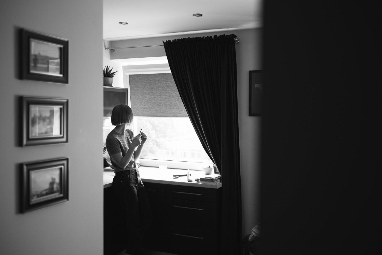 Lėtas rytas ir ramios mintys vestuvių dieną Dovilės namuose