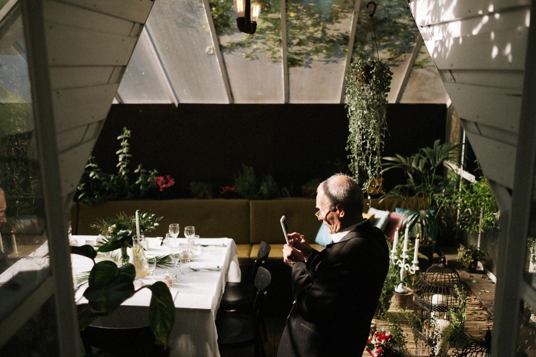Panama Food Garden vestuvės, vakarienei paruoštas šiltnamis