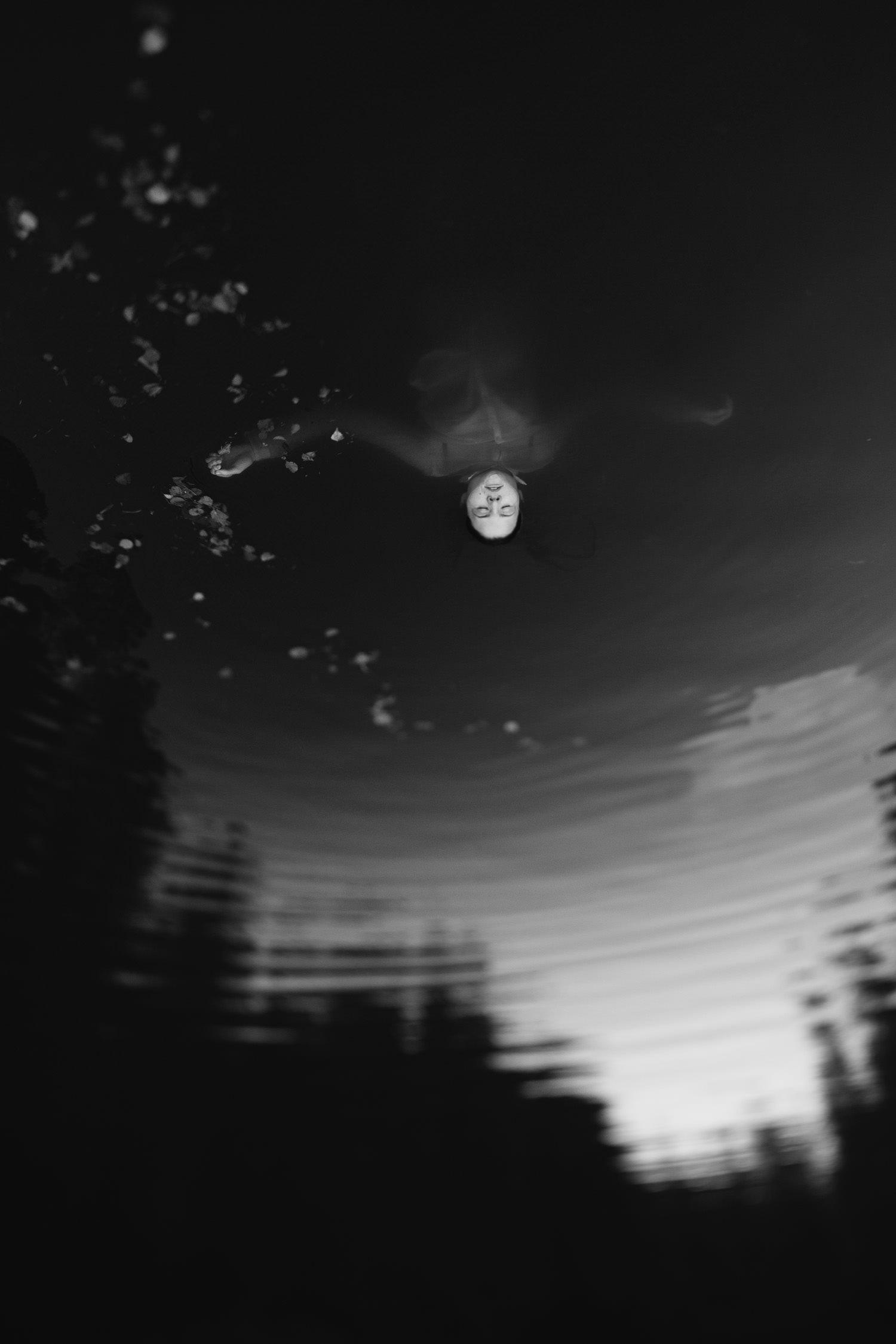 Linos portretas ežere